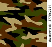 camouflage pattern background... | Shutterstock .eps vector #577562134