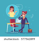 confident businessman standing... | Shutterstock .eps vector #577562899