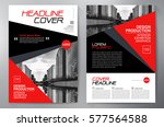 business brochure flyer design. ... | Shutterstock .eps vector #577564588