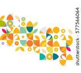 colorful flower pattern and... | Shutterstock .eps vector #577566064
