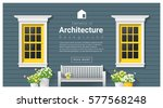 elements of architecture  ... | Shutterstock .eps vector #577568248