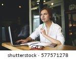 portrait of skilled creative... | Shutterstock . vector #577571278