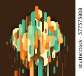 progressive retro style... | Shutterstock .eps vector #577575808