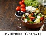 Tasty Greek Salad With Feta ...