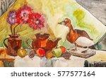 still life composition... | Shutterstock . vector #577577164