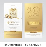 set of elegant vertical banners ... | Shutterstock .eps vector #577578274