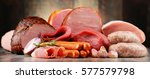assorted meat products... | Shutterstock . vector #577579798