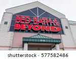 Small photo of Fairfax, USA - January 27, 2017: Bed Bath and Beyond store facade in red