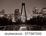 pedestrian bridge and downtown... | Shutterstock . vector #577587520
