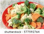 quick frozen vegetables retain... | Shutterstock . vector #577592764