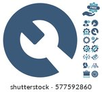 wrench icon with bonus settings ... | Shutterstock .eps vector #577592860