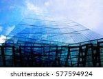 city of london skyscrapers...   Shutterstock . vector #577594924