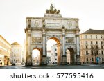 victory gate triumphal arch ... | Shutterstock . vector #577595416