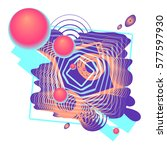 colorful abstraction with... | Shutterstock .eps vector #577597930