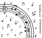 various musical notes on stave | Shutterstock .eps vector #57759955