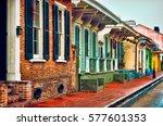 french quarter houses   Shutterstock . vector #577601353