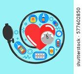 arterial blood pressure...   Shutterstock .eps vector #577602850