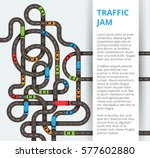 a lot of winding roads with... | Shutterstock .eps vector #577602880