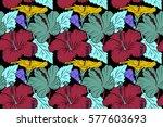 raster seamless pattern of... | Shutterstock . vector #577603693