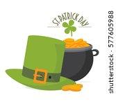 saint patrick's day greeting... | Shutterstock .eps vector #577605988