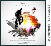 bmx freestyle. sport background | Shutterstock .eps vector #577610398