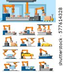 industrial automated... | Shutterstock .eps vector #577614328