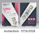 flyer design. business brochure ... | Shutterstock .eps vector #577615528
