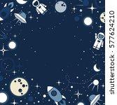 vector flat cosmos design... | Shutterstock .eps vector #577624210