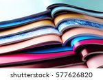 stack of magazines   information | Shutterstock . vector #577626820