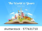 travel to world. road trip.... | Shutterstock .eps vector #577631710