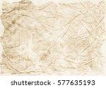 old crumpled paper texture.... | Shutterstock . vector #577635193