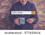 apply now concept   Shutterstock . vector #577635616