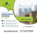 vector brochure  flyer template ... | Shutterstock .eps vector #577637989