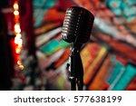 microphone. retro microphone. a ... | Shutterstock . vector #577638199