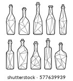 set polygonal triangle alcohol... | Shutterstock .eps vector #577639939