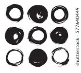 set of empty scribble circles ... | Shutterstock .eps vector #577640449