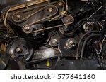 engine part of an industrial... | Shutterstock . vector #577641160