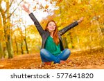 nature outdoor playing relax... | Shutterstock . vector #577641820
