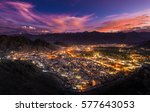 leh ladakh city and mountains ... | Shutterstock . vector #577643053