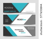gray and blue banner design.... | Shutterstock .eps vector #577653844