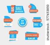 set of colorful sale banners.... | Shutterstock .eps vector #577653850