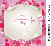 valentine's day. abstract... | Shutterstock .eps vector #577654123