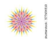 bright flower on a white... | Shutterstock .eps vector #577654510