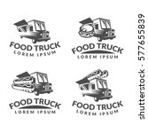 food truck logo set. street... | Shutterstock .eps vector #577655839