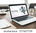planning strategy marketing... | Shutterstock . vector #577657759