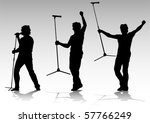 Vector Silhouette Of Artists O...