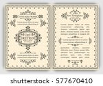 monogram cards template with... | Shutterstock .eps vector #577670410