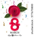 women's day background with... | Shutterstock .eps vector #577670800