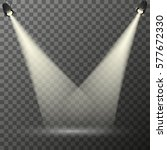 vector spotlight. red podium... | Shutterstock .eps vector #577672330