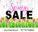Spring Sale Banner With...
